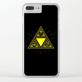Light Of Triangle Clear iPhone Case