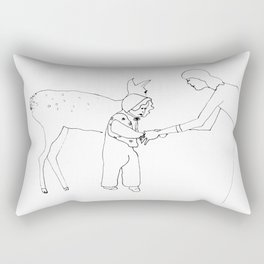 yellow bambi came to me when I was taking my first steps Rectangular Pillow