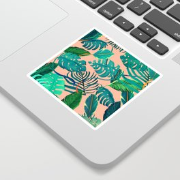 Summer Tropical Leaves Sticker