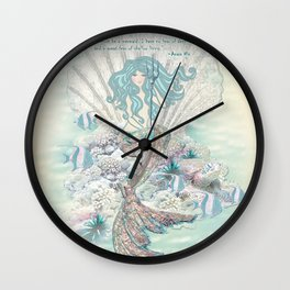Anais Nin Mermaid [vintage inspired] Art Print Wall Clock