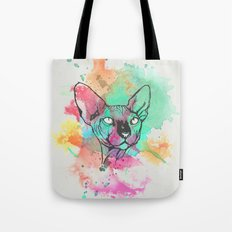 Watercolor Sphynx Tote Bag