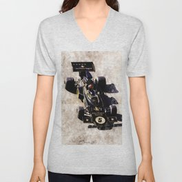 Emerson Fittipaldi on Lotus Unisex V-Neck