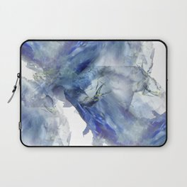 Soft abstract blue paint splotches Laptop Sleeve