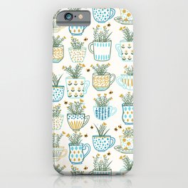Tea Time // Tea Lovers // Botanical Bees iPhone Case