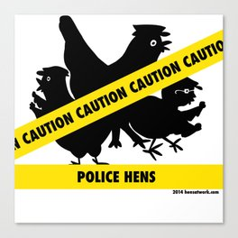 Police Hens Silhouette Canvas Print