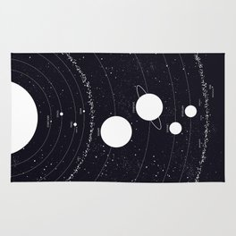 Stellarum Ordo Solaris: A map of our Solar system Rug