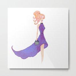 Fashion DIVA - watercolor Metal Print