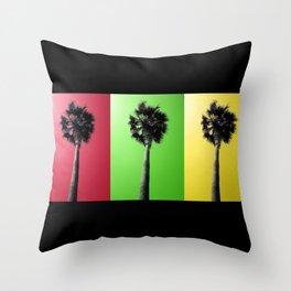 Palm Trees Rasta Throw Pillow