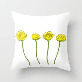 Nuphar plant Throw Pillow