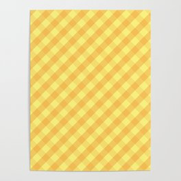 Yellow plaid Poster