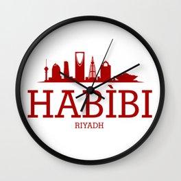 Habibi Riyadh Wall Clock