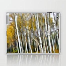 Yellow Aspens 1 by Leslie Harlow Laptop & iPad Skin