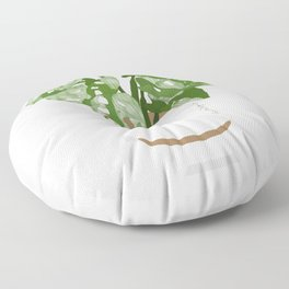 Potted Variegated Monstera  Floor Pillow