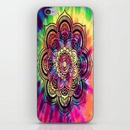Trippy Rainbow Tiedye Mandala iPhone Skin