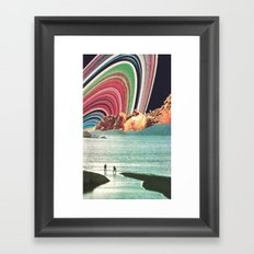 Saturn Strobe Framed Art Print