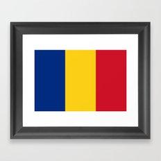 Flag of Romania Framed Art Print