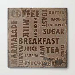Vintage breakfast Metal Print