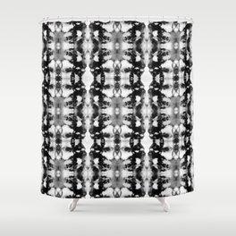 Tie-Dye Blacks & Whites Shower Curtain