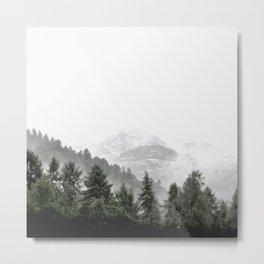 Love Nature, Forest Fog Metal Print