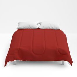 Simple Red Colour Comforters