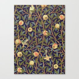 William Morris Bird And Pomegranate Canvas Print