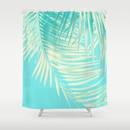 Palm Leaves Summer Vibes #4 #tropical #decor #art #society6 Shower Curtain