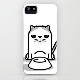 Mad Hungry Cat iPhone Case