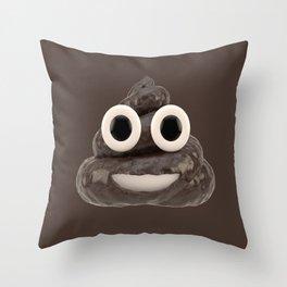 Pile of Poo Emoji Throw Pillow