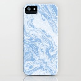 Ryoko - spilled ink abstract painting marble marbled paper art minimal swirl modern water ocean wave iPhone Case