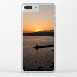 Sunset in Nice, France Clear iPhone Case