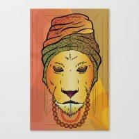 erykah badu Canvas Prints featuring Erykah Badu Lioness by Adrien Mcneil