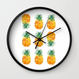 Adroable Geomteric Pineapple Pattern Wall Clock