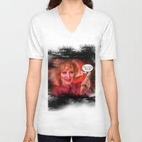 jessica lange V-neck T-shirts featuring Don't fuck with the Lange by Sabuchan