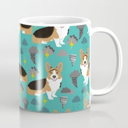 Corgi Storm Chaser - tornado, storm, storms, weather, clouds, corgi design Coffee Mug