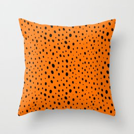 Orange Cheetah Pattern Throw Pillow