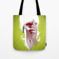 vampire Tote Bags featuring Vampire by Kimball Gray
