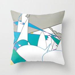 Color #7 Throw Pillow