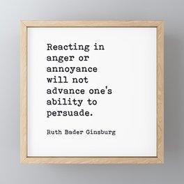 RBG, Reacting In Anger Or Annoyance Framed Mini Art Print