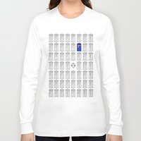 tardis Long Sleeve T-shirts featuring Tardis by Megan Twisted