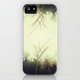 Green trees.  iPhone Case