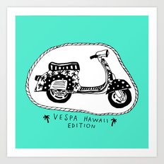 Vespa Hawaii Edition. Art Print