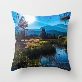 Tahoe Mountains Throw Pillow