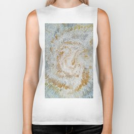 Abstract gold roses Biker Tank