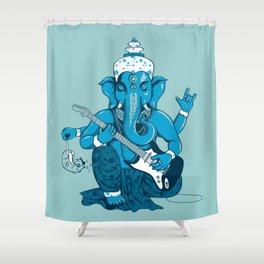 Ganesha rocks ! (v3) Shower Curtain