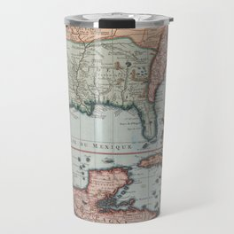 Vintage Map of The Gulf of Mexico (1732) Travel Mug
