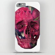 Vintage Anatomical Skull Grunge Pink Roses iPhone 6 Plus Slim Case