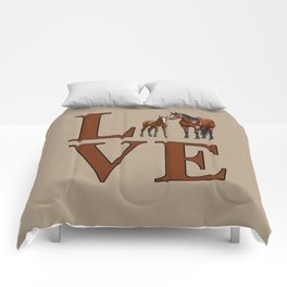 Love Horses Bay Mare and Cute Foal Comforters