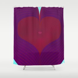 I Heart Lines Shower Curtain