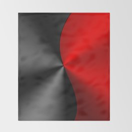 Slick masculine black and red metallic design Throw Blanket