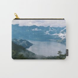 Fog over the water in Squamish BC Carry-All Pouch